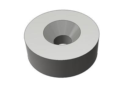 円柱型皿穴付き